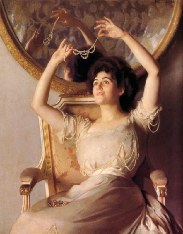 William Paxton. Pearl necklace, 1908