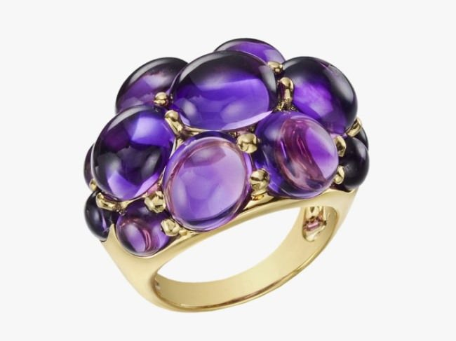 Wonderful ring with amethyst