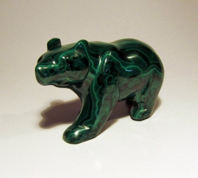 Bear, malachite