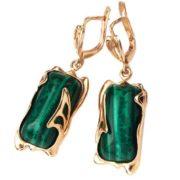 Beautiful earrings with malachite