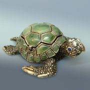 Beautiful nephrite turtle