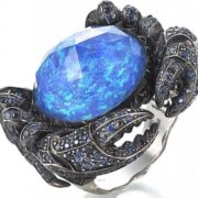 Beautiful ring with sapphire