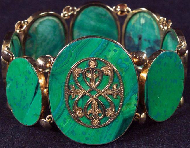 Bracelet, malachite