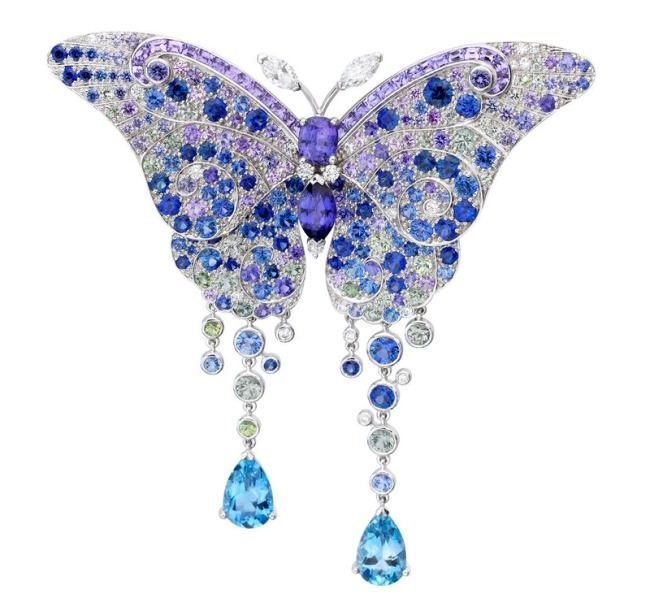 Butterfly with sapphires