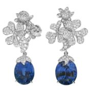 Dior. Earrings with sapphires