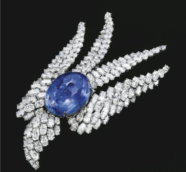 Extraordinary, Platinum, Sapphire and Diamond Bird Clip, Alexandre Reza.