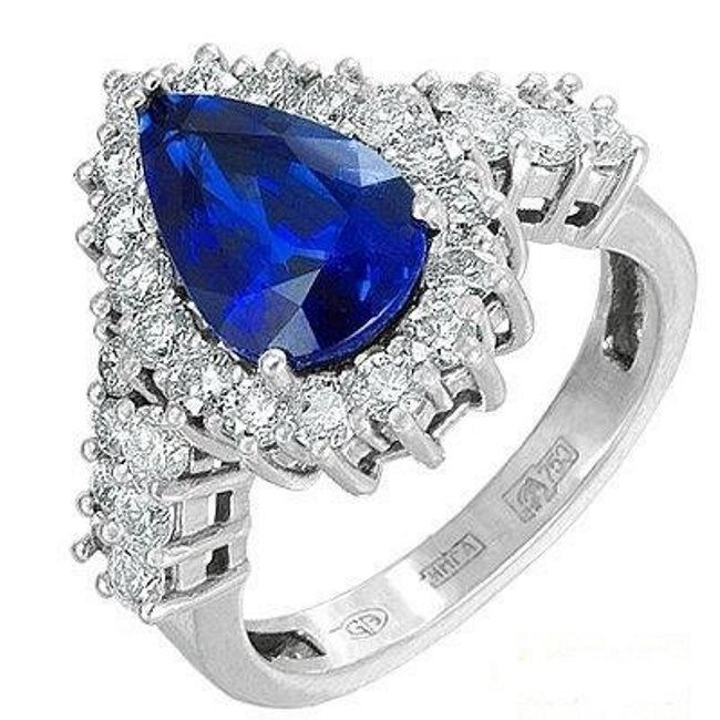 Great ring with sapphire