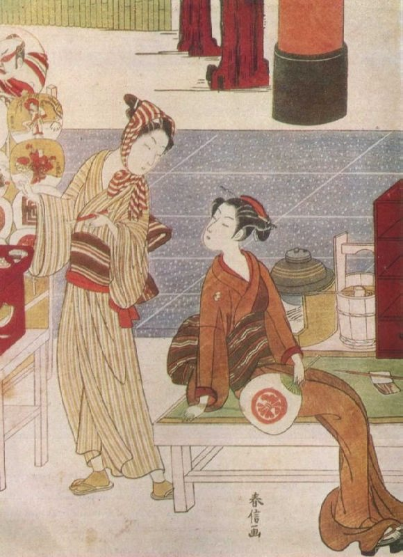 Harunobu Suzuki. Osen. The middle of the 18th century