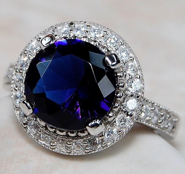 Interesting ring with sapphire