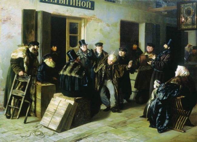 Jokers. Gostiny Dvor in Moscow, 1865
