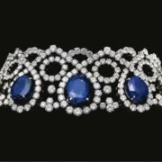 Magnificent Platinum, Sapphire and Diamond Choker, Alexandre Reza.