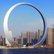 Monument to Ring of Life in Fushun, Liaoning Province, China
