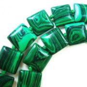 Necklace, malachite