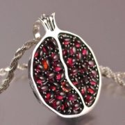 Pomegranate with garnets