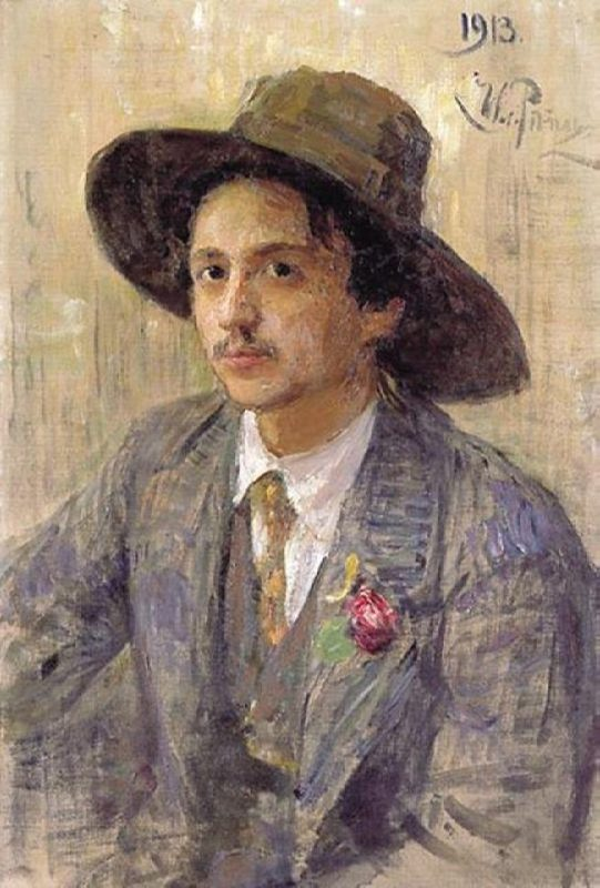 Portrait of Isaak Brodsky by Ilya Repin