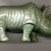 Rhino made of nephrite