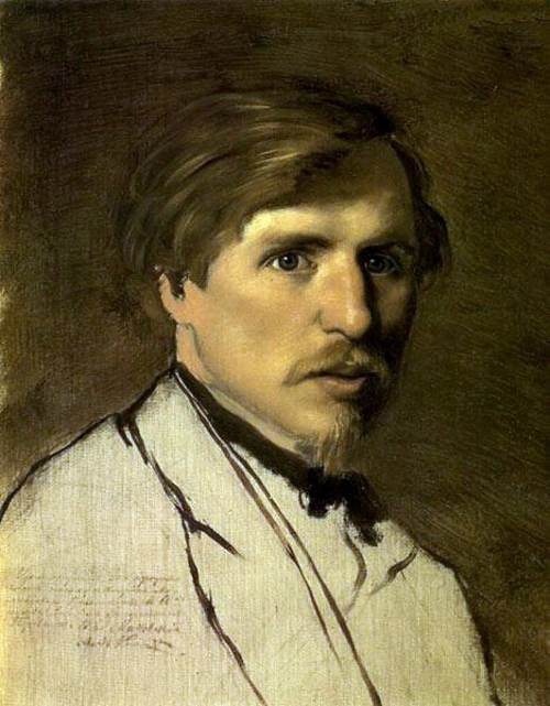 Russian painter Illarion Pryanishnikov. Portrait by V. G. Perov, 1862