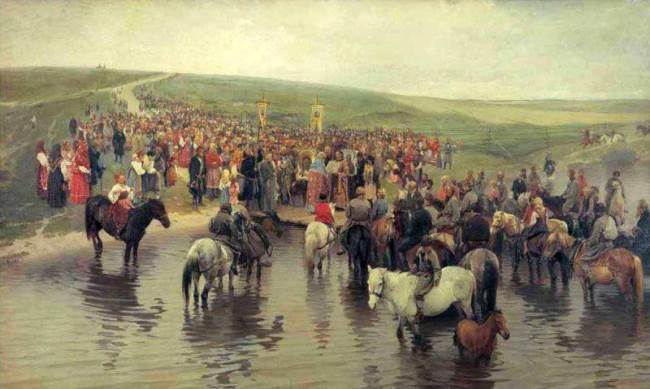 Spasov day in the north, 1887