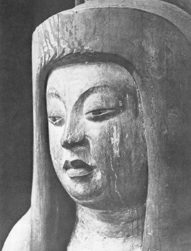 Statue of the Shinto goddess, fragment, IX century