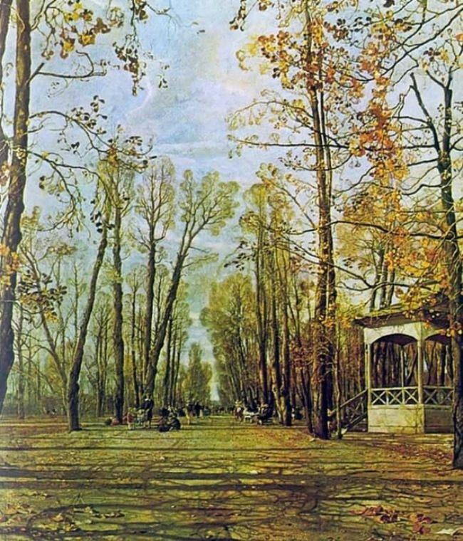 Summer Garden alley in autumn, 1928