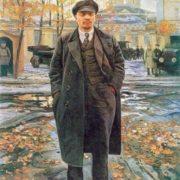 V.I. Lenin near Smolny