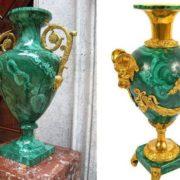 Vases, malachite