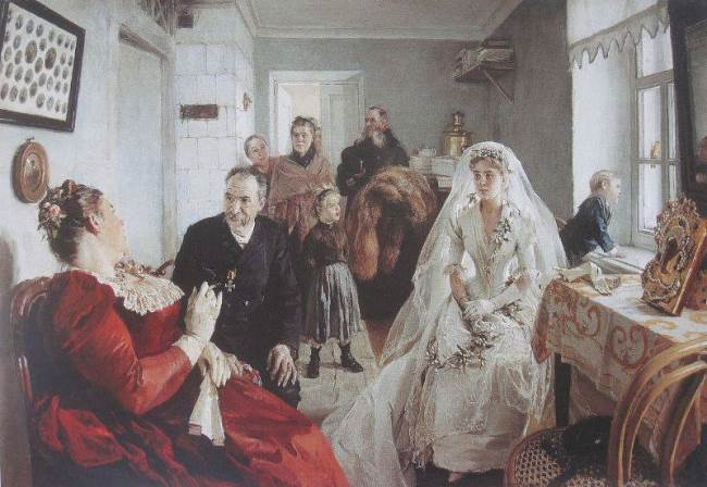 Waiting for the best man, 1891