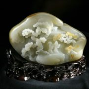 Xinjiang white jade. China, 20th century