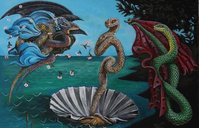 Birth of snake Venus by Bill Flowers
