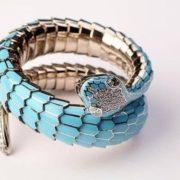 Blue snake bracelet, Carlo Luca della Quercia