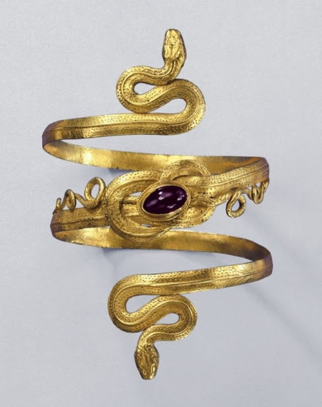 Bracelet with snakes, grenades, Greek, 2nd century BC