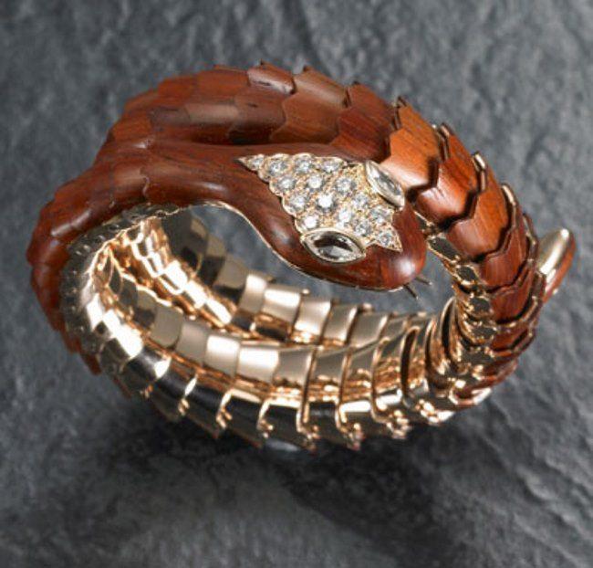 Brown snake bracelet, Carlo Luca della Quercia