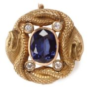 Gold, sapphires, diamonds, 1895