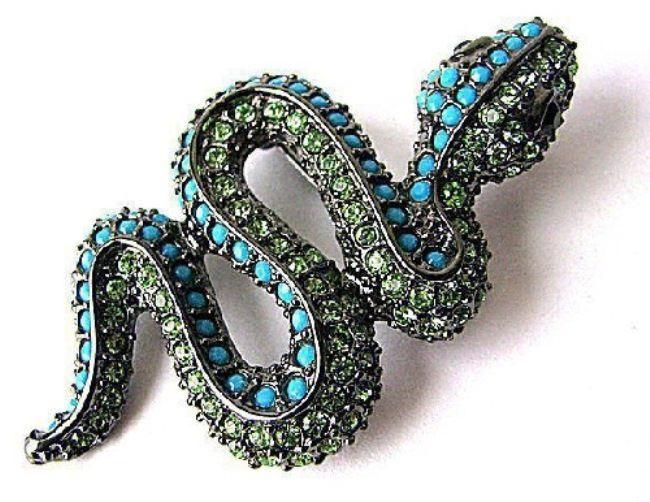 KJL Vintage Brooch Snake