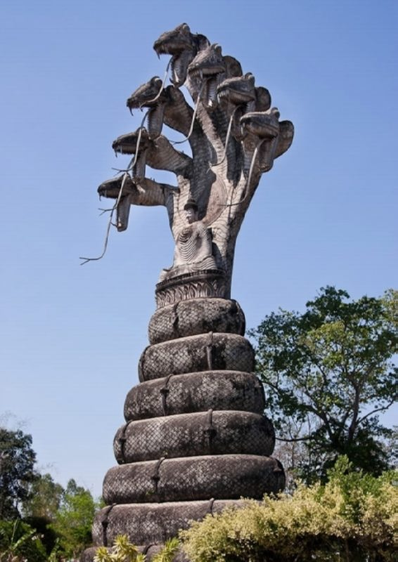 Monument to the snake near Nongkhai, Thailand
