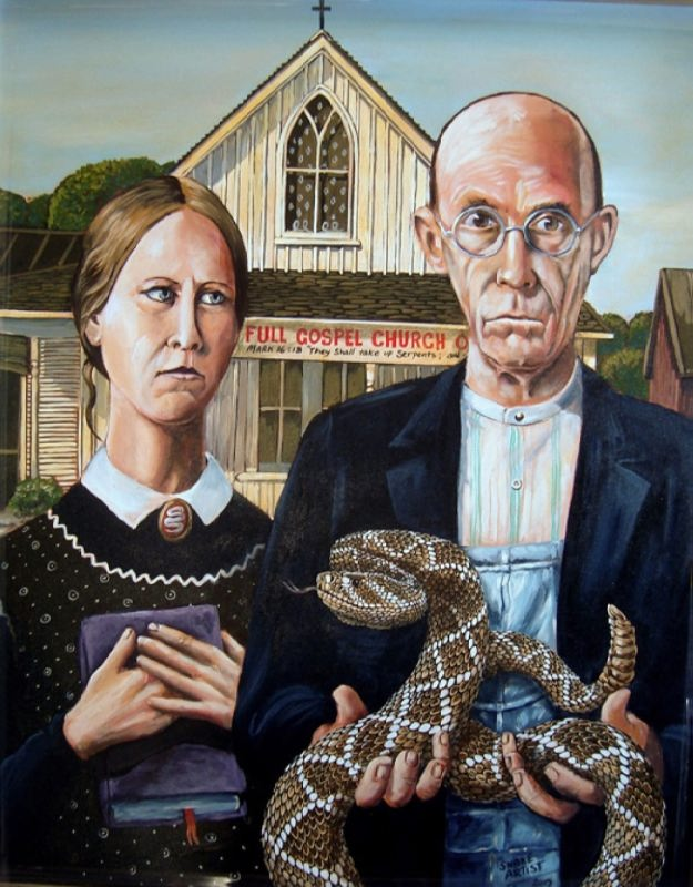 Thou shall take up serpents by Bill Flowers