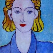 A girl in a blue blouse (portrait of Lydia Delectorskaya). 1939