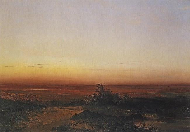 Dawn in the steppe. 1852