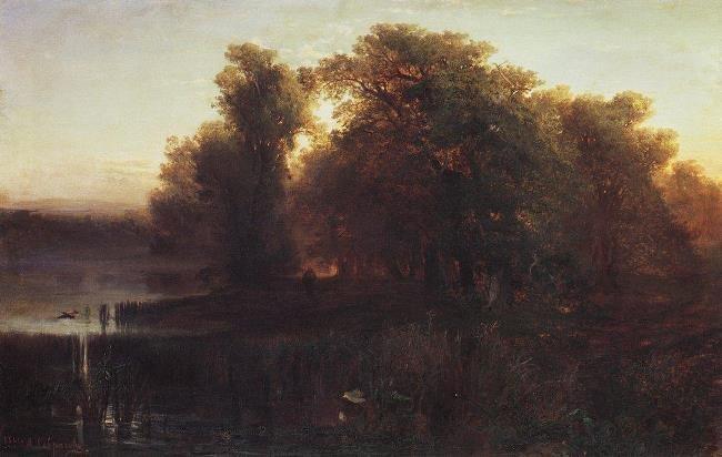 Evening landscape. 1861