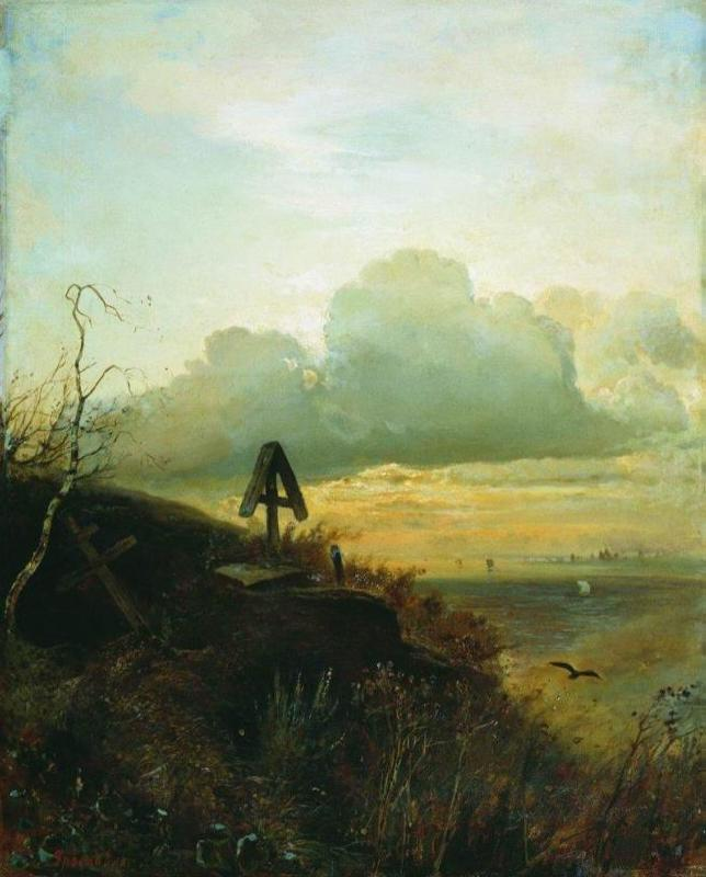 Grave on the Volga. Surroundings of Yaroslavl