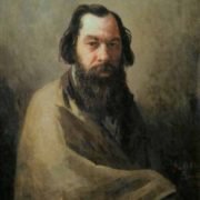 I. Volkov. Portrait of the artist A. K. Savrasov