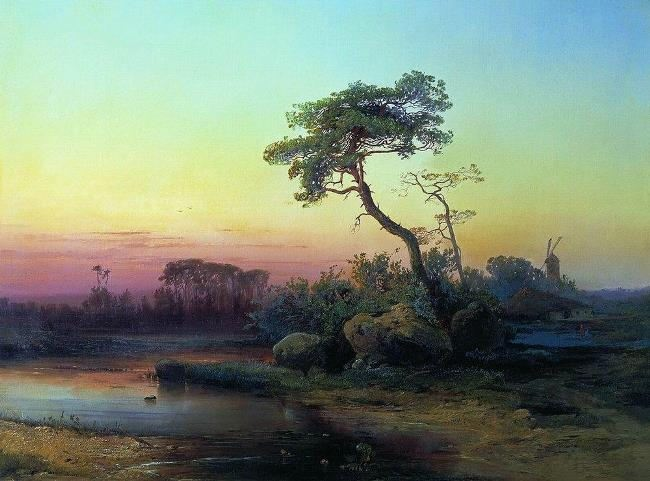 Landscape with a pine. 1854