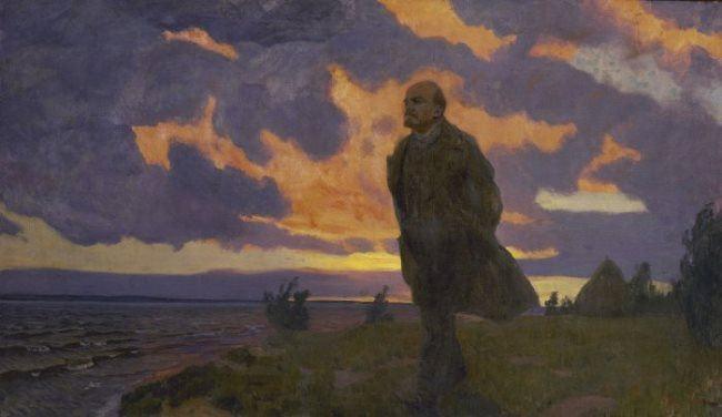 Lenin in Razliv in 1917