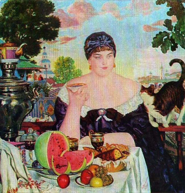 Merchant is drinking tea. 1918