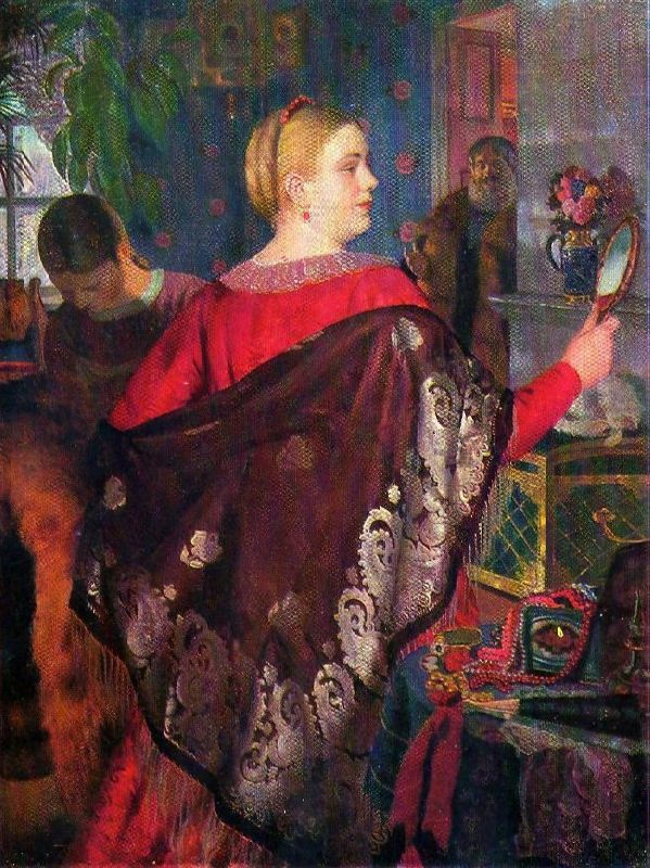 Merchant with a mirror. 1920