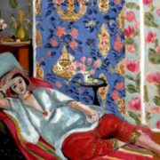 Odalisque in red trousers