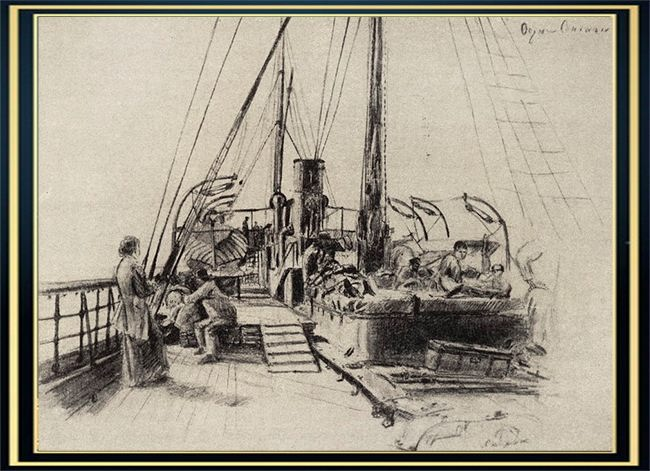 On the ship Sineus. 1895