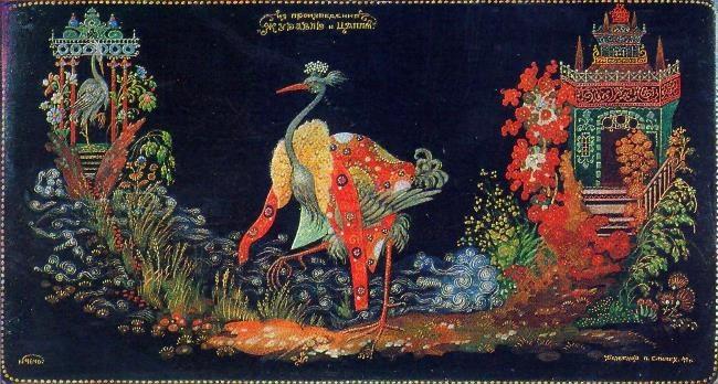 P.D. Bazhenov. Crane and heron. 1941