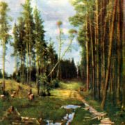 Path in a pine forest. 1883. State Russian Museum