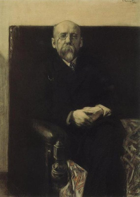 Portrait of F.K. Sologub. 1907